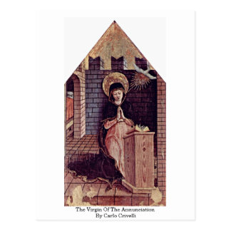 The Virgin Of The Annunciation By Carlo Crivelli Postcard