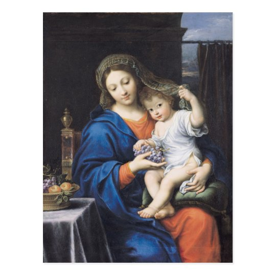 The Virgin of the Grapes, 1640-50 Postcard