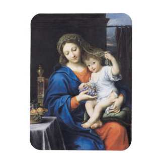 The Virgin of the Grapes, 1640-50 Rectangle Magnets
