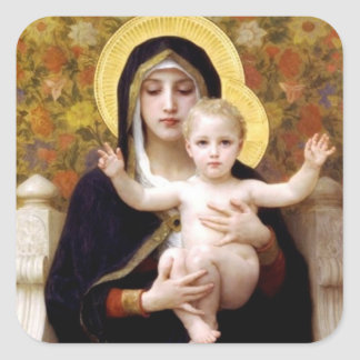 The Virgin of the Lilies - Christmas Sticker