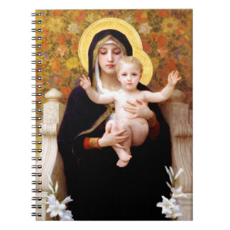 The Virgin of the Lilies  (La Vierge au Lys) Notebook