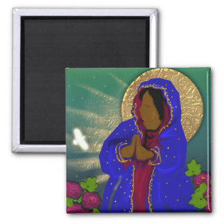 the virgin of the roses magnet