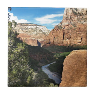 The Virgin River in Zion Canyon Ceramic Tiles