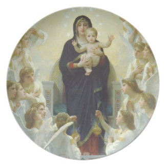 The Virgin with Angels Party Plates