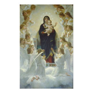 The Virgin With Angels, Regina Angelorum Poster