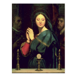 The Virgin with the Host, 1841 Postcard