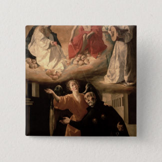 The Vision of St. Alphonsus Rodriguez 2 Inch Square Button