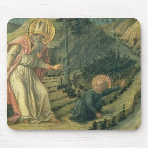 The Vision of St. Augustine, late 1450's Mouse Pads