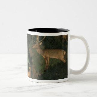 The Vision of St. Eustachius, c.1438-42 Two-Tone Coffee Mug