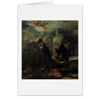 The Vision of St. Francis of Paola Greeting Cards