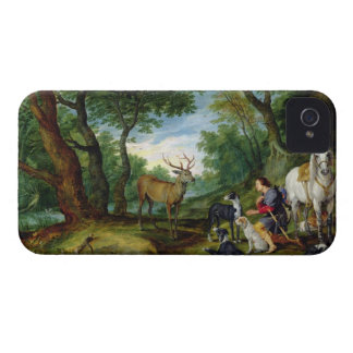 The Vision of St. Hubert, c.1620 (oil on panel) iPhone 4 Case-Mate Case