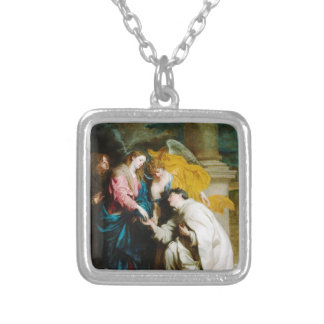 The Vision of the Blessed Hermann Joseph (1630) Silver Plated Necklace
