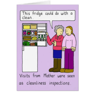 The visit from Mother. Card