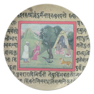 The visit of a Rajput chief to a hermit from a pag Plates