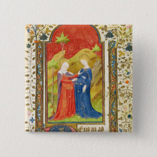 The Visitation 2 Inch Square Button