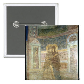 The Visitation, detail from the chapel interior 2 Inch Square Button