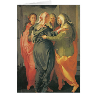 The Visitation - Jacopo Da Pontormo Card