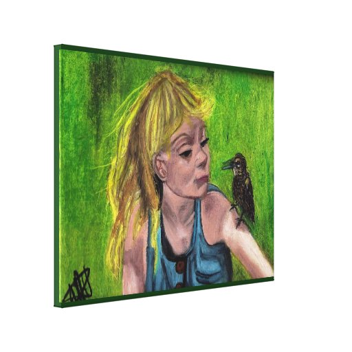 THE VISITOR canvas Gallery Wrapped Canvas