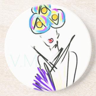 The Visitor Fashion Illustration Coasters