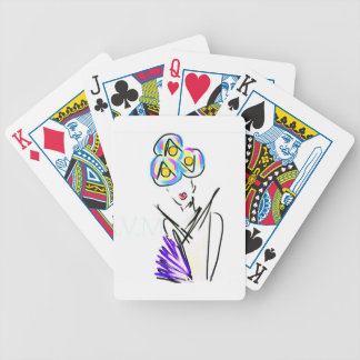 The Visitor Fashion Illustration Poker Deck