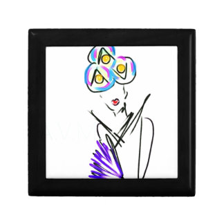 The Visitor Fashion Illustration Trinket Boxes
