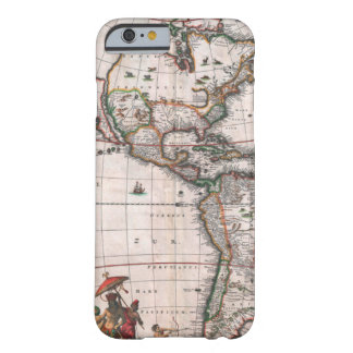 The Visscher map of the New World Barely There iPhone 6 Case