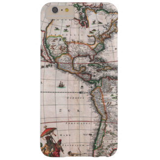 The Visscher map of the New World Barely There iPhone 6 Plus Case