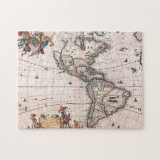 The Visscher map of the New World Jigsaw Puzzle