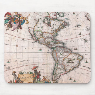 The Visscher map of the New World Mouse Pad
