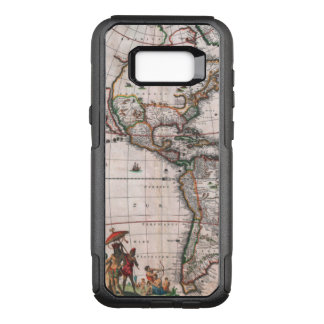 The Visscher map of the New World OtterBox Commuter Samsung Galaxy S8+ Case