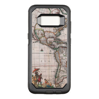 The Visscher map of the New World OtterBox Commuter Samsung Galaxy S8 Case