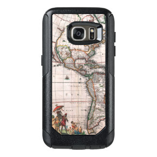 The Visscher map of the New World OtterBox Samsung Galaxy S7 Case