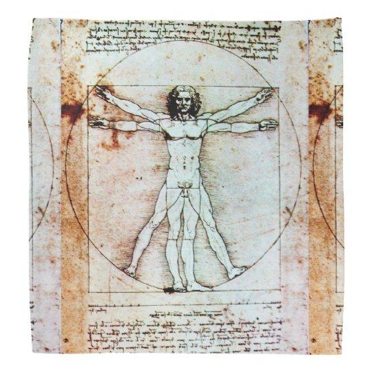 THE VITRUVIAN MAN Antique Parchment Kerchief