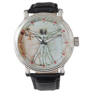 THE VITRUVIAN MAN Antique Parchment Watch