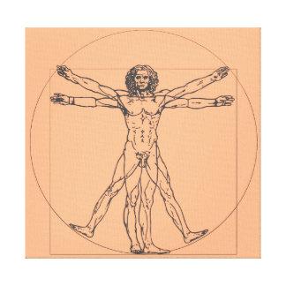 The Vitruvian Man Canvas Print