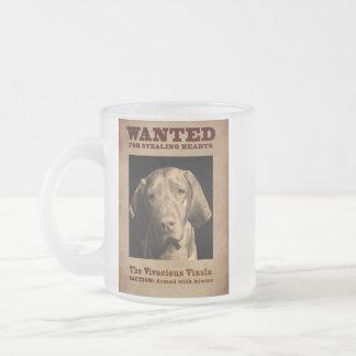 The Vivacious Vizsla Frosted Glass Coffee Mug