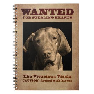 The Vivacious Vizsla Notebook