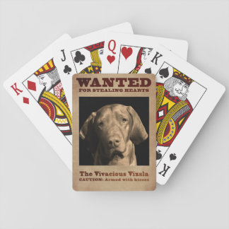 The Vivacious Vizsla Playing Cards