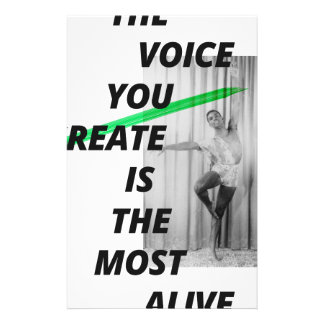 The voice in your head is the most alive stationery