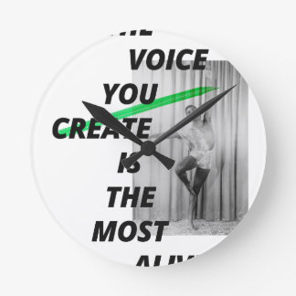 The voice in your head is the most alive wallclock