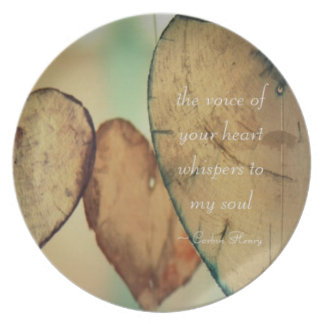 The Voice Of Your Heart Whispers To My Soul Dinner Plates