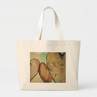 The Voice Of Your Heart Whispers To My Soul Large Tote Bag