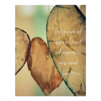 The Voice Of Your Heart Whispers To My Soul Letterhead