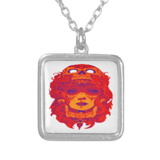 THE VOODOO STYLE SQUARE PENDANT NECKLACE