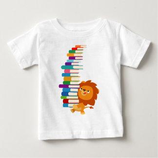 The Voracious Reader (Cartoon Lion) Baby T-Shirt
