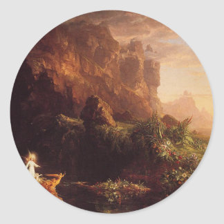 The Voyage of Life: Childhood by Thomas Cole Classic Round Sticker