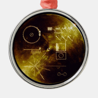 The Voyager Golden Record Metal Ornament
