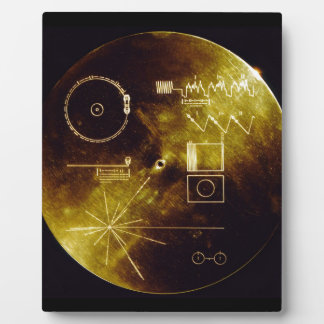 The Voyager Golden Record Plaque