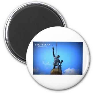 THE VULCAN STATUE 2 INCH ROUND MAGNET