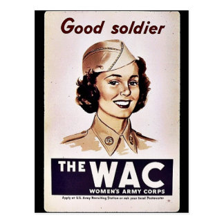 The Wac Womens Army Corps Post Card